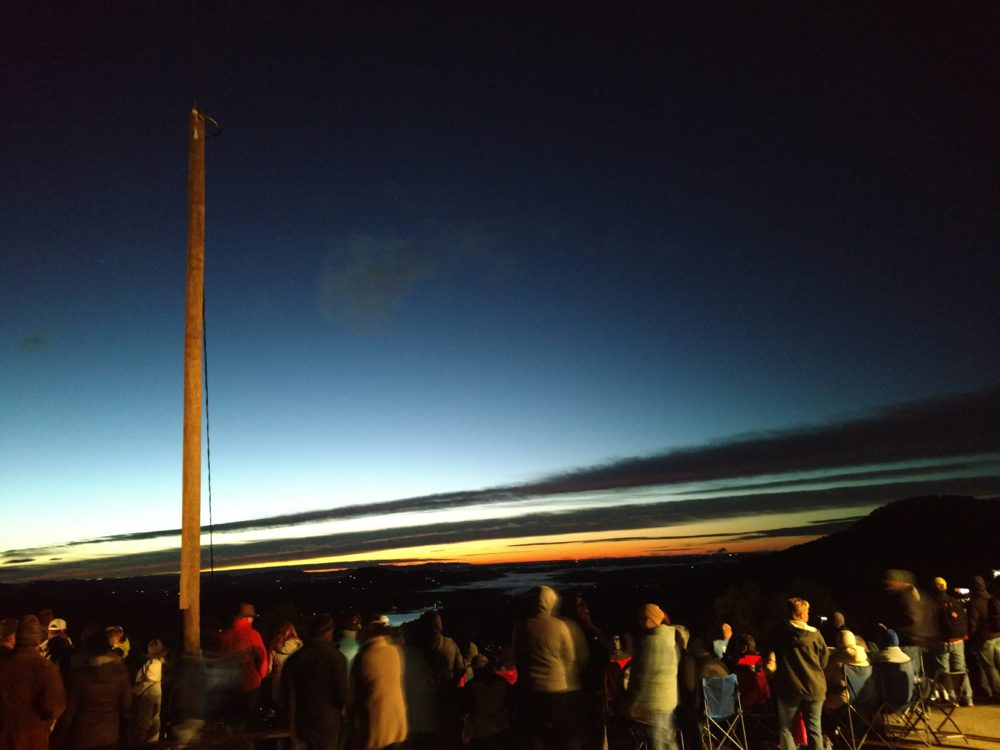 Easter Sunday Sunrise Service on Chimney Rock 2019